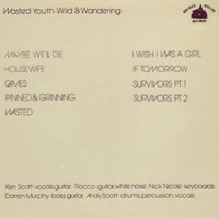 Wasted Youth - Wild and wandering back cover